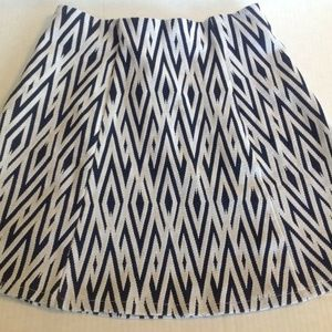 Zara Trafaluc  Skirt Navy & White Tribal Print